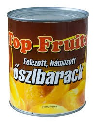 Konzerv őszibarack felezett 820g Top Fruit