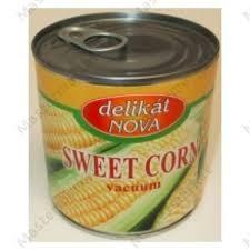 Konzerv kukorica2150gr morzsolt nyomott*