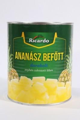 Konzerv ananász darabolt 3050g Ricardo*